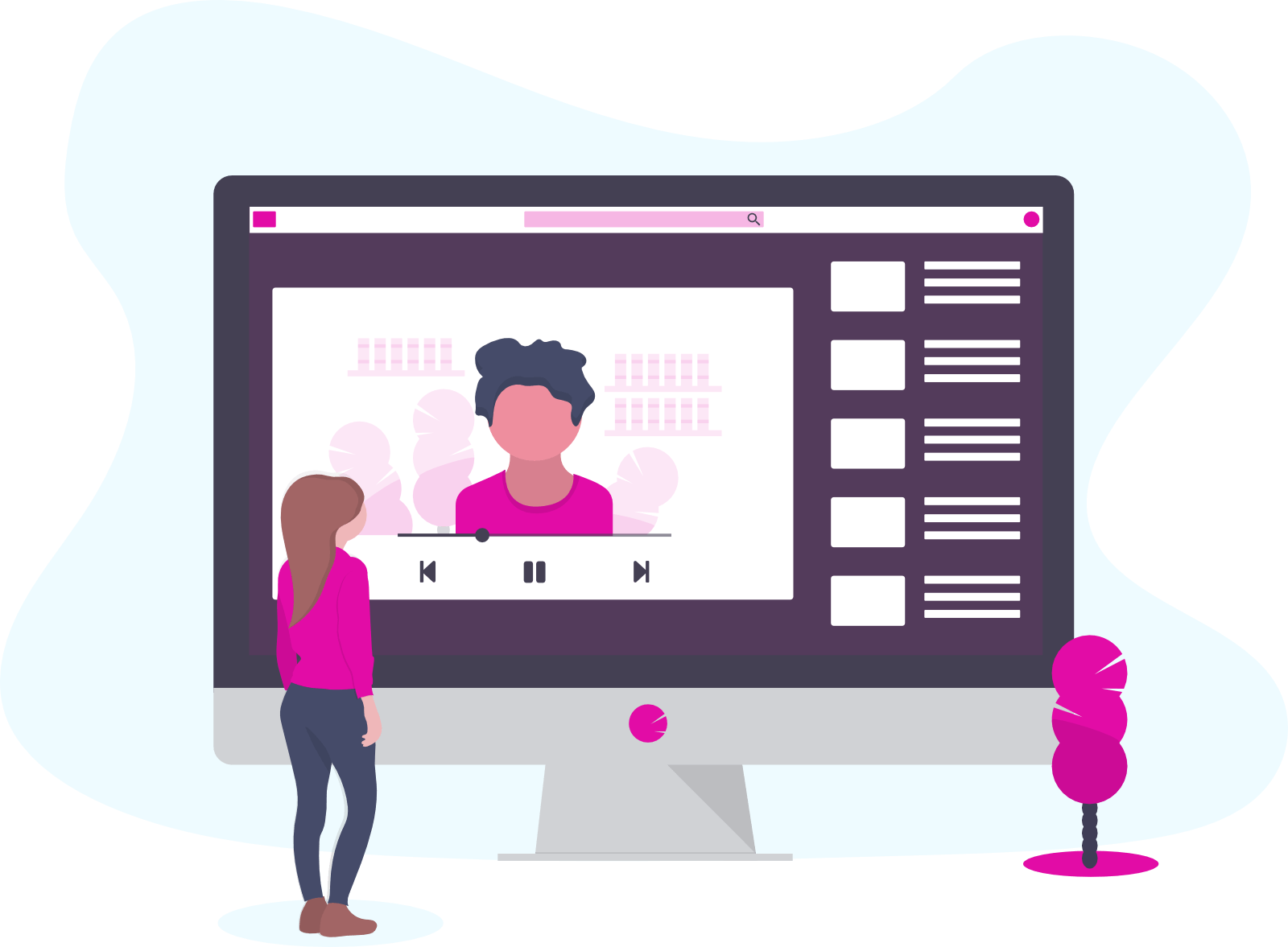 Animated sales videos and online video streaming platforms